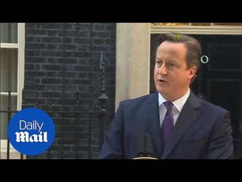 David Cameron speech after Scotland votes No - Daily Mail