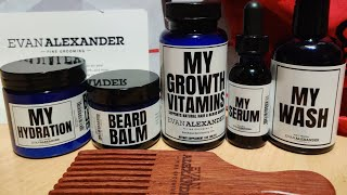 Unboxing of the Evan Alexander Beard Kit from Black Men's Grooming Den