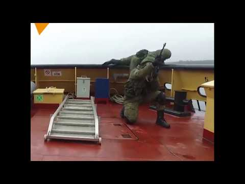Exercises of the Russian Marine Corps