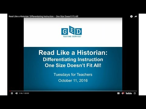 Tuesday for Teachers: Read Like a Historian: Differentiating Instruction – One Size Doesn't Fit All!
