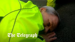 video: Insulate Britain protester who glued face to road admits 'it wasn't one of my better moves'