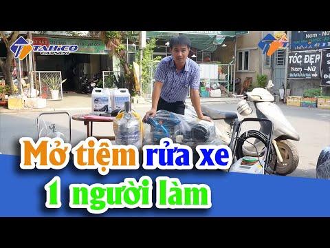 Tư Vấn Mở Tiệm Rửa Xe Máy Với 1 Người Làm | Công Ty TAHICO