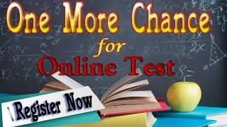 One More chance || MCA Online Test Series || Go Fast || Register Now