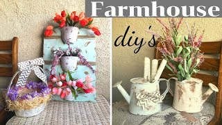 4 Spring Farmhouse DIY's For $10 or Less | Dollar Tree & Target Dollar Spot Items | Farmhouse Decor
