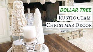 Rustic Glam Dollar Tree Christmas Decor 2018