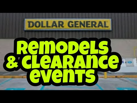 Dollar General Store Remodels & Clearance Event Confession