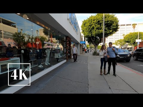 Robertson Boulevard, West Hollywood Walking Tour 👜 Los Angeles, California  🎧 3D Binaural Sound