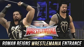 WWE 2K16 - Roman Reigns Wrestlemania 32 Entrance (New Attire & Custom Ramp Entrance)