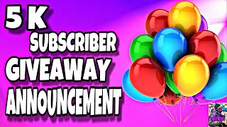 5K SUBSCRIBERS GIVEAWAY INFORMATION | WATCH TO FIND OUT| FORTNITE SAVE THE WORLD