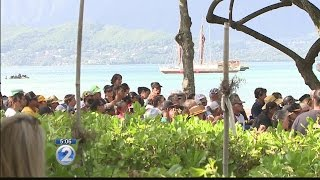 Hokulea's journey comes full circle with private ceremony at her birthplace