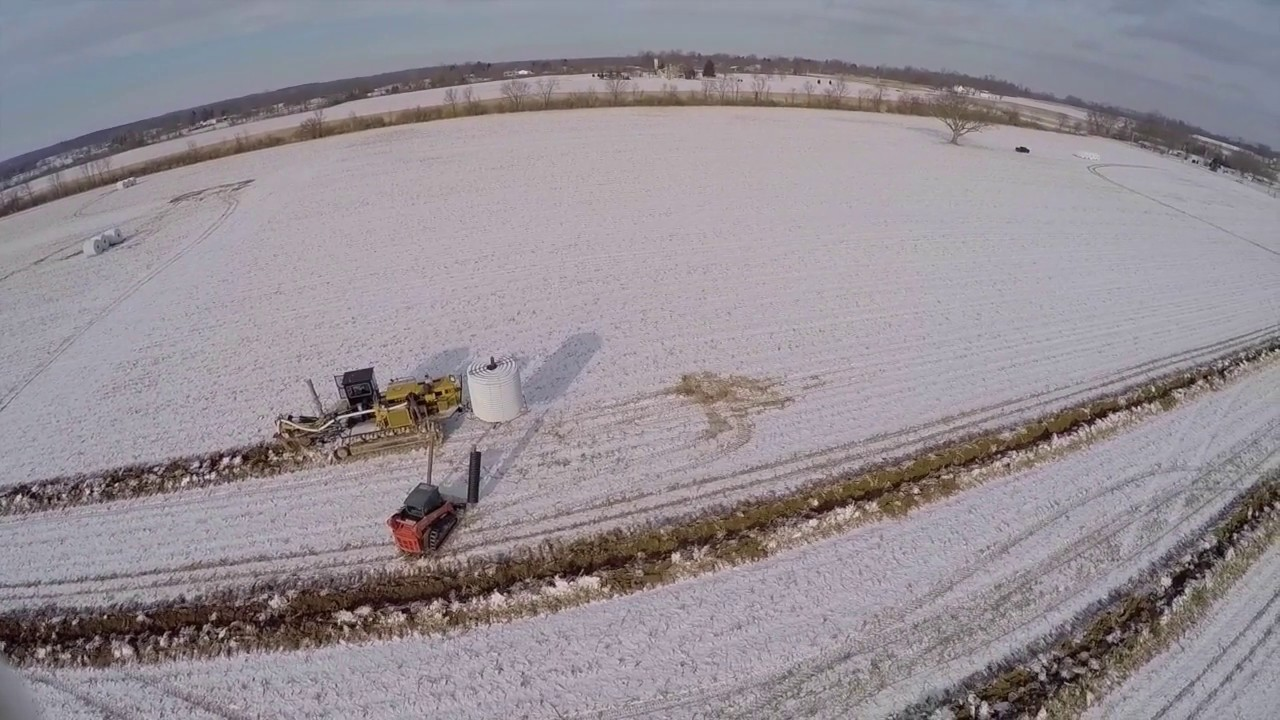 field drainage tile in ohio cy inc youtube