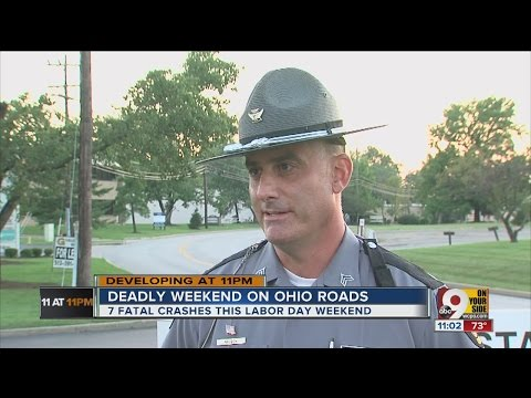 Seven deadly crashes in Ohio over Labor Day weekend