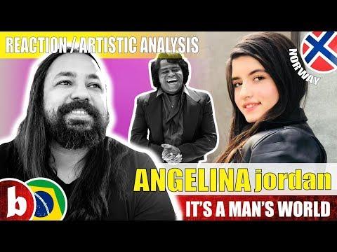 ANGELINA JORDAN! It's A Man's World - Reaction (SUBS)