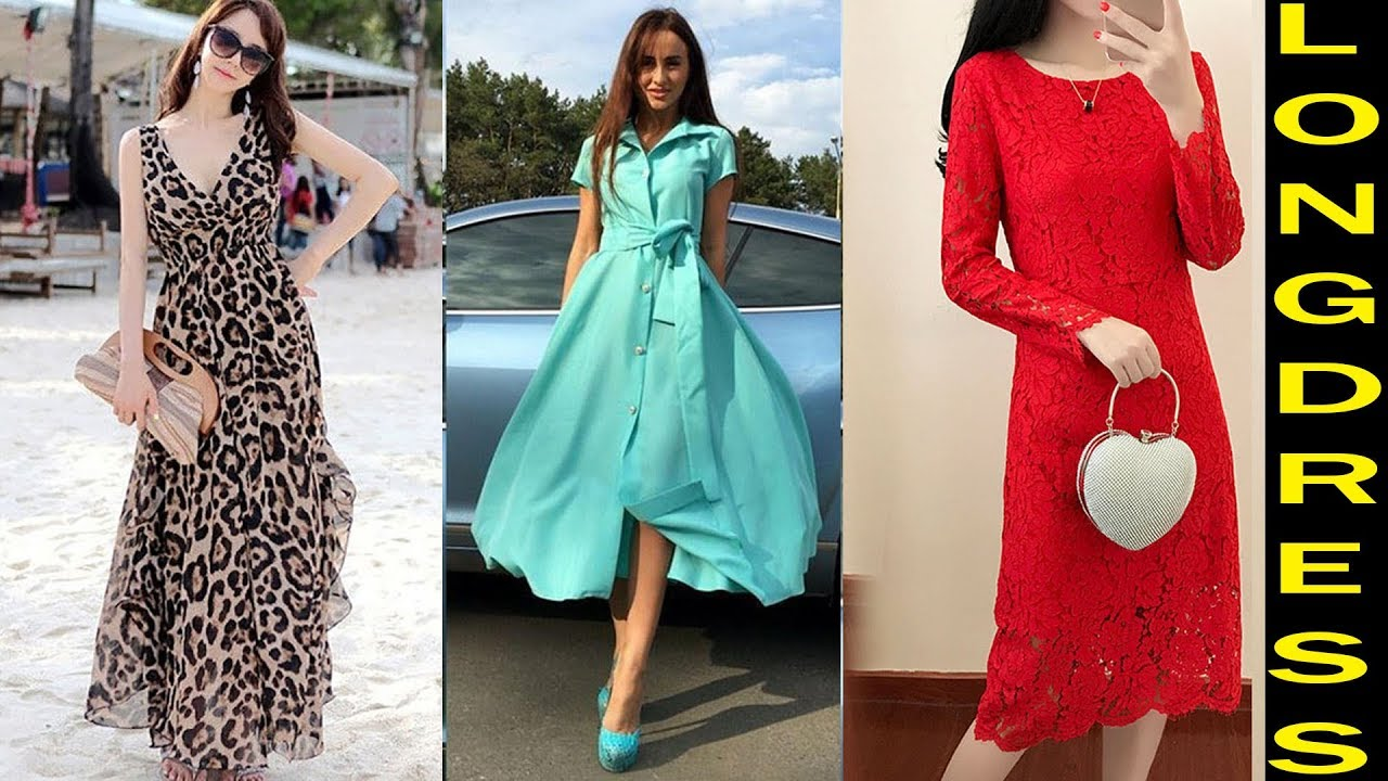 NEW Long Dresses Party Wear Designs 2018 - YouTube