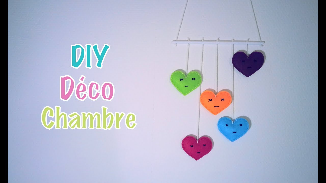 diy d co chambre b b enfant mural coeur youtube. Black Bedroom Furniture Sets. Home Design Ideas