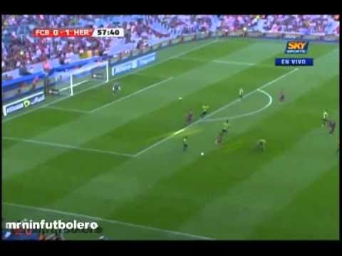 Liga BBVA 2010: FC Barcelona vs Hercules 0-2 Jornada 2 [11/09/10] SKY Sports