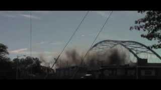 Amelia Earhart Bridge Demolition Slow Motion