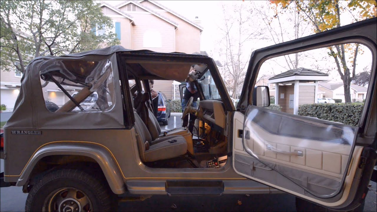1989 Jeep Wrangler Yj Soft Top Up Hd Youtube