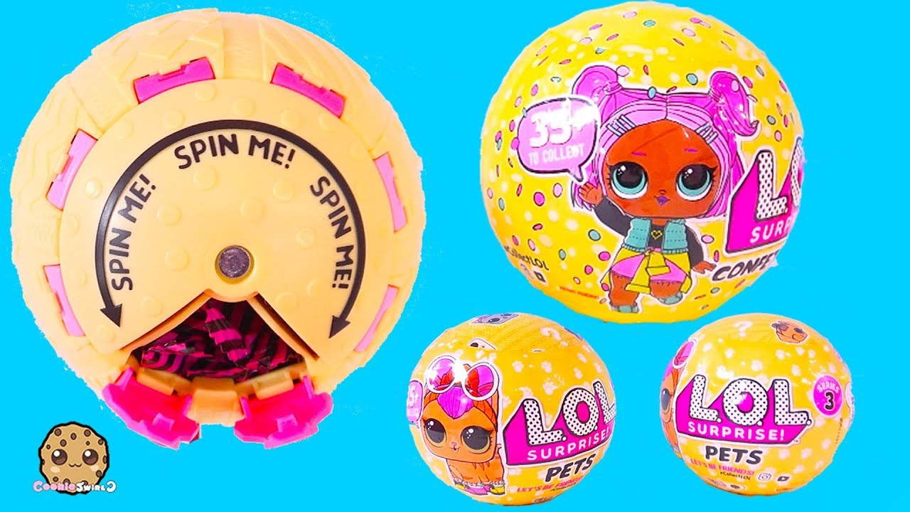 Spin Pop Surprise Lol Doll Series 3 Confetti Blind Bag Ball Pets