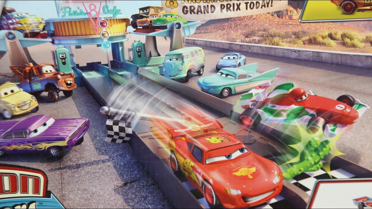 Disney Pixar Cars Action Shifters Flo S V Cafe Dragstrip Playset