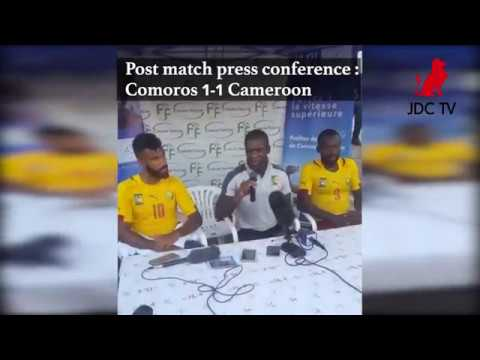 Post match press conference: Comoros 1 - 1 Cameroon