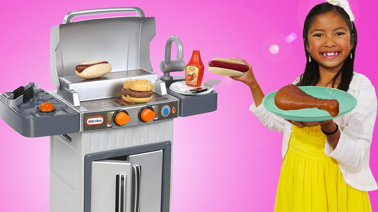 Wendy Pretend Cooking With Bbq Grill Toy Youtube