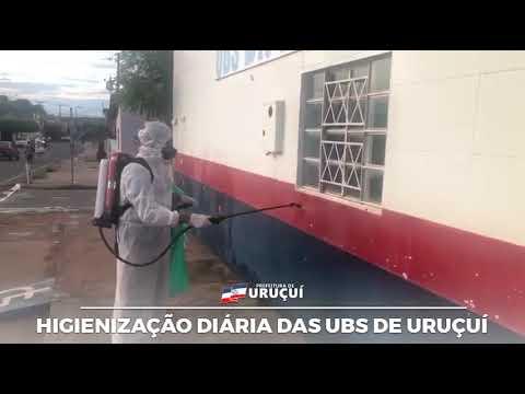 As unidades básicas de saúde de Uruçuí, passam por sanitização.