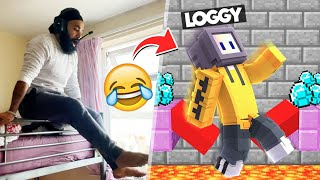 LOGGY TROLLING ME IN MINECRAFT PARKOUR!