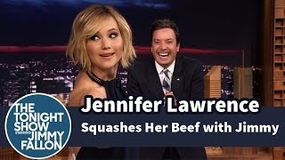 Jennifer Lawrence Squashes Her Beef with Jimmy Fallon YouTube Videos