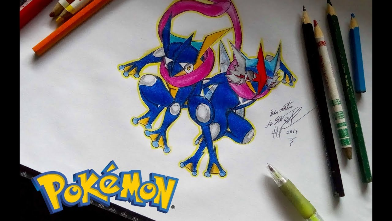 Drawing Greninja Pokemon Desenhando Greninja Youtube