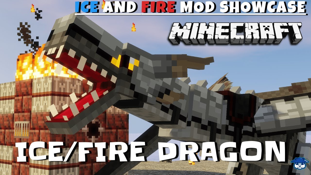 Ice/Fire Dragon Showcase Ice and Fire Mod 1 12 Minecraft YouTube