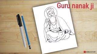 how to draw Guru nanak ji | drawing for kids | guru nanak