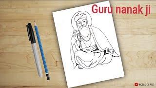 how to draw Guru nanak ji | drawing for kids | guru nanak
