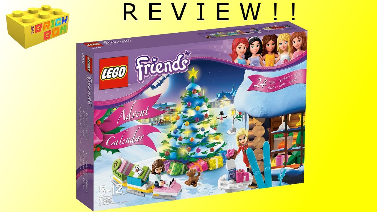 lego friends 2012 advent calendar 3316 review youtube. Black Bedroom Furniture Sets. Home Design Ideas