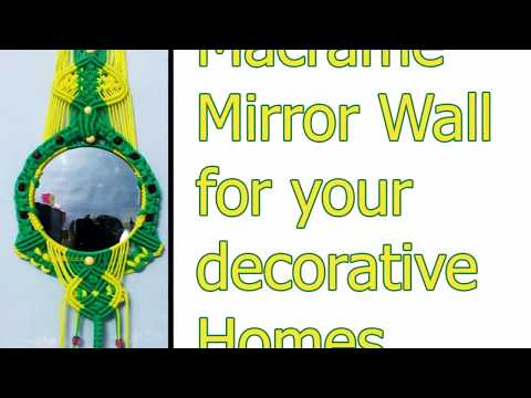 easy-macrame-mirror-designs-ideas-|-how-to-make-simple-macrame-mirror-|-homemade-macrame-mirror-art