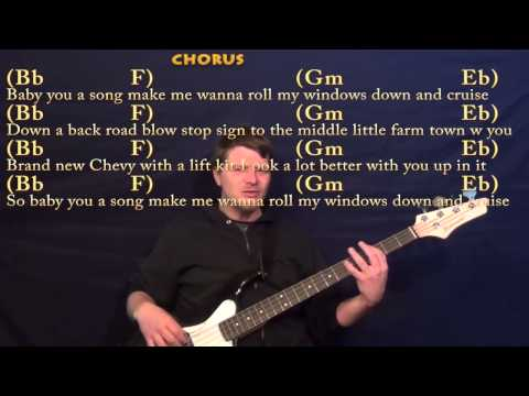 Cruise (FLORIDA GEORGIA LINE) Bass Guitar Cover Lesson with Chords and Lyrics
