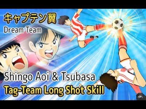 Captain Tsubasa Dream Team - Shingo Aoi Tag-Team Long Shot (Rare Skill)
