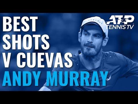 Brilliant Andy Murray Shots v Cuevas   European Open 2019