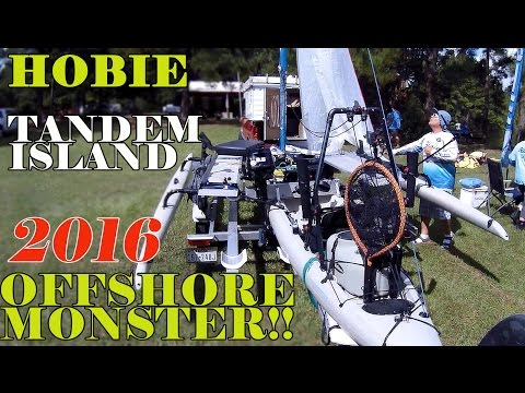 FULLY Rigged 2016 Hobie Tandem Island with Outboard MOTOR!