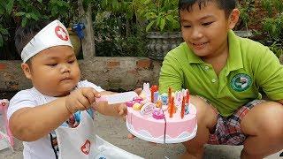 Trò Chơi Bác Sĩ Sinh Nhật Bánh Kem ❤ ChiChi ToysReview TV ❤ Đồ Chơi Trẻ Em Baby Doli Song