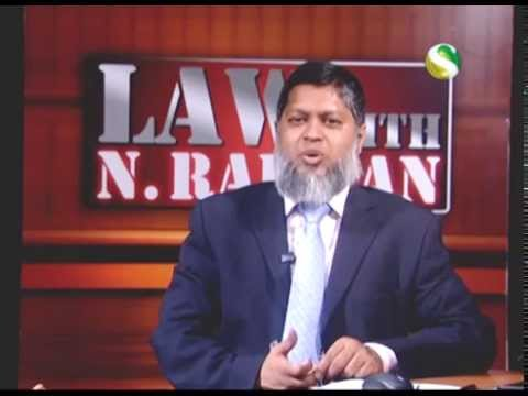 29 November 2014 - Law with N Rahman - Part 1
