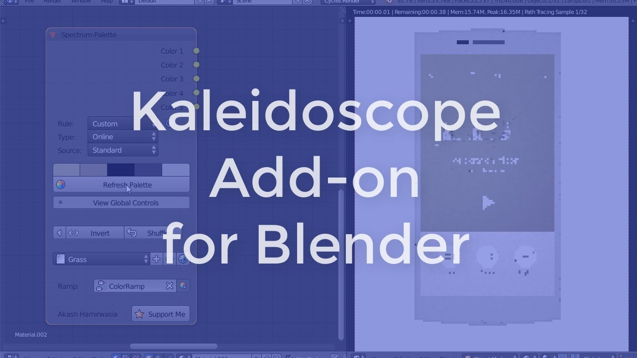 Invert color jpg online - Sneak Peek Of Kaleidoscope Add On For Blender Custom Color Rules
