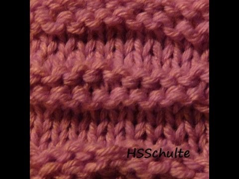 How to Loom Knit the Ridge Stitch Pattern on a Knifty Knitter Loom - YouTube