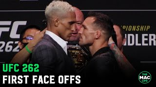 Michael Chandler vs. Charles Oliveira have intense face off | UFC 262 Press Conference