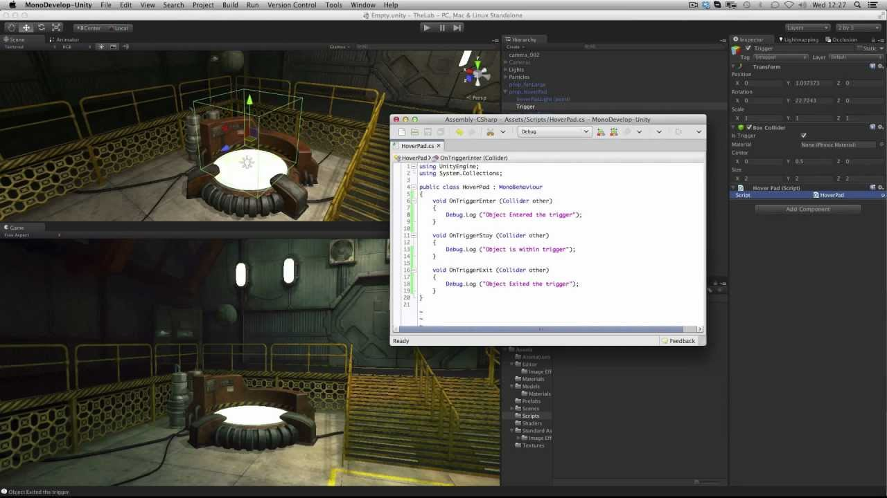 Colliders as Triggers - Unity Official Tutorials