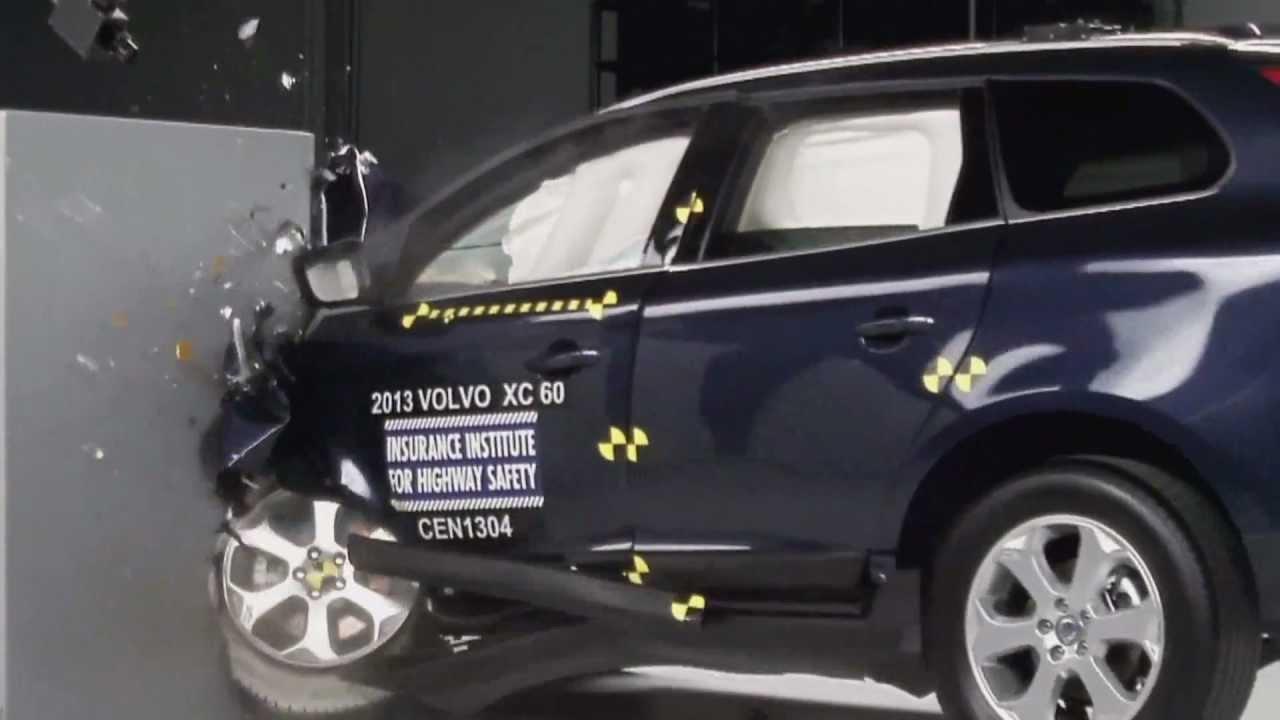 2013 Crash Test Volvo XC60 IIHS Small Overlap Test [Good] - YouTube