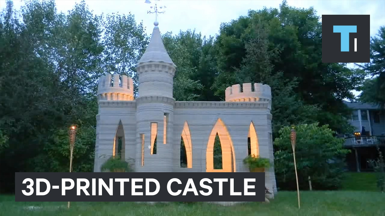 Elegant This Man 3D Printed A Castle In His Backyard