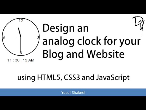 HTML5 | How to create an Analog Clock using HTML5 CSS3 and JavaScript