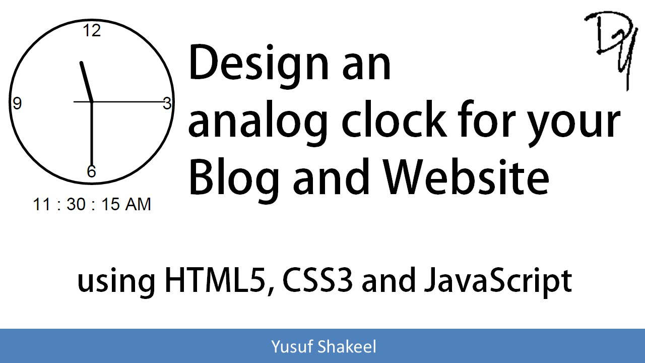 How to create an Analog Clock using HTML5 CSS3 and JavaScript - Web