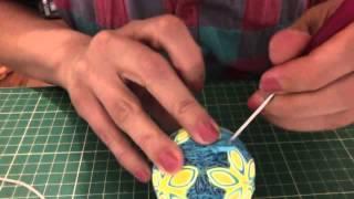 Neşeli Quilling Strafor Top-Quilling Styrofoam Ball- Part2